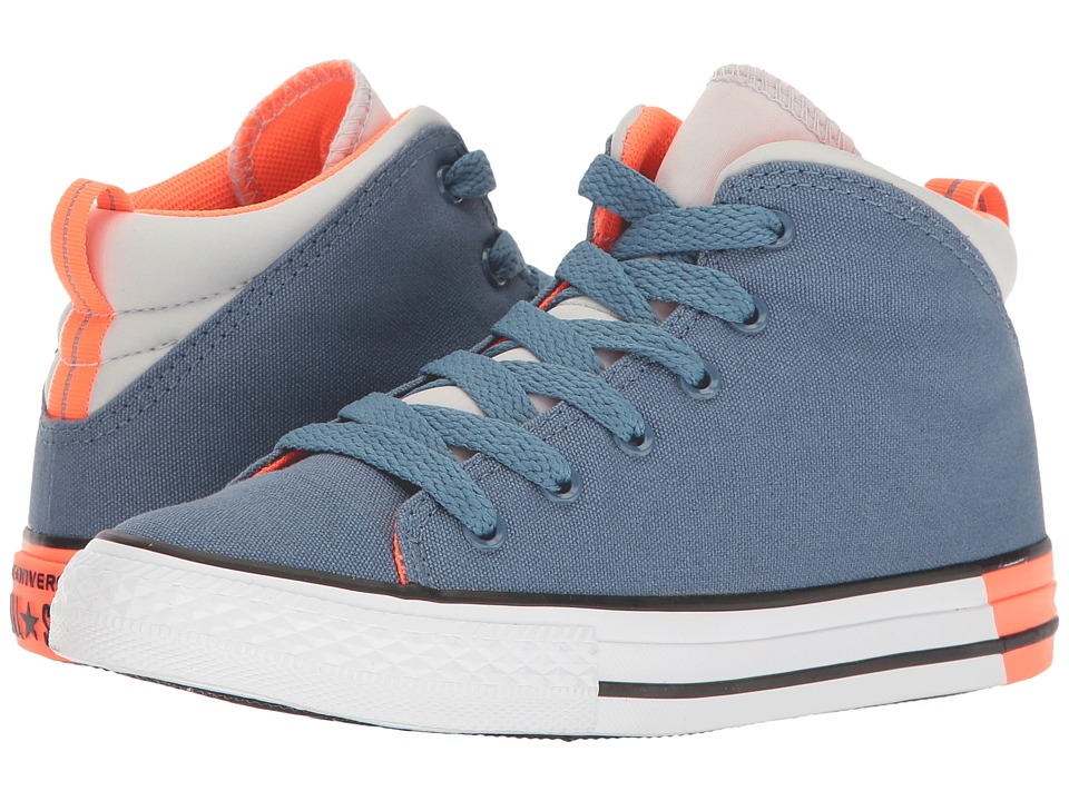 Converse Kids - Chuck Taylor All Star Official Mid (Little Kid/Big Kid) (Blue Coast/Mouse/White) Boys Shoes