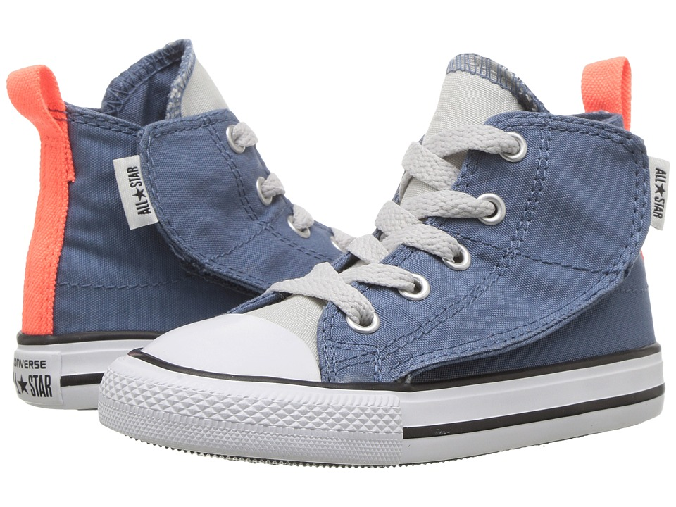 Converse Kids - Chuck Taylor All Star Simple Step Hi (Infant/Toddler) (Blue Coast/Mouse/White) Boy's Shoes