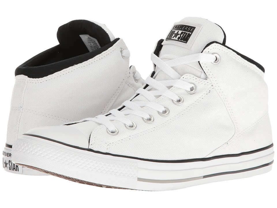 Converse Chuck Taylorr All Starr High Street Hi White/Black/White  Men's Classic Shoes