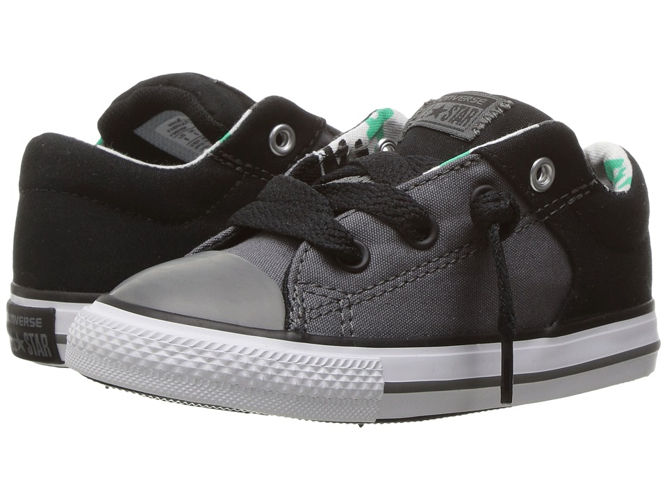 Converse Kids - Chuck Taylor All Star High Street Slip (Infant/Toddler) (Thunder/Black/White) Boy's Shoes