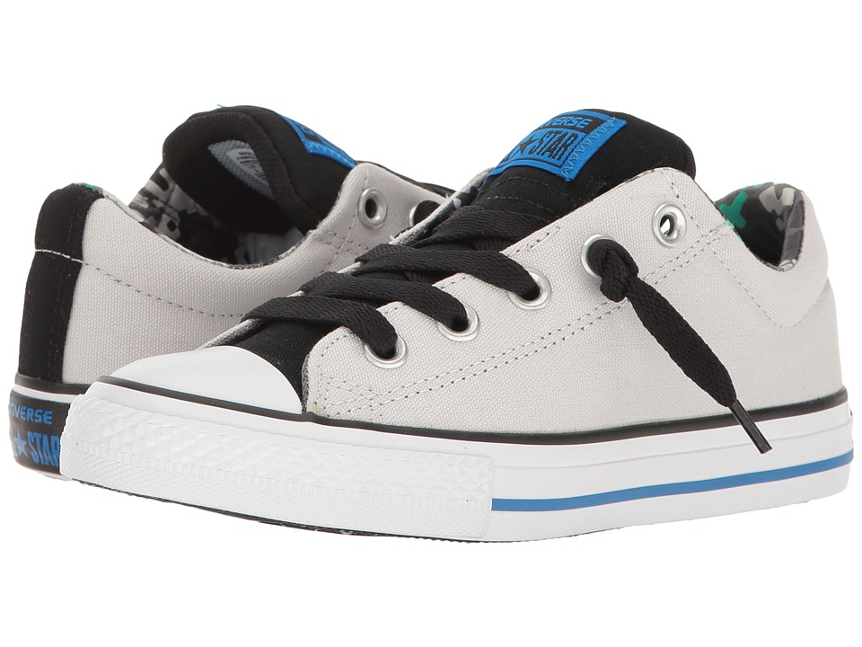 Converse Kids - Chuck Taylor All Star Street Slip (Little Kid/Big Kid) (Mouse/Black/Soar) Boy's Shoes