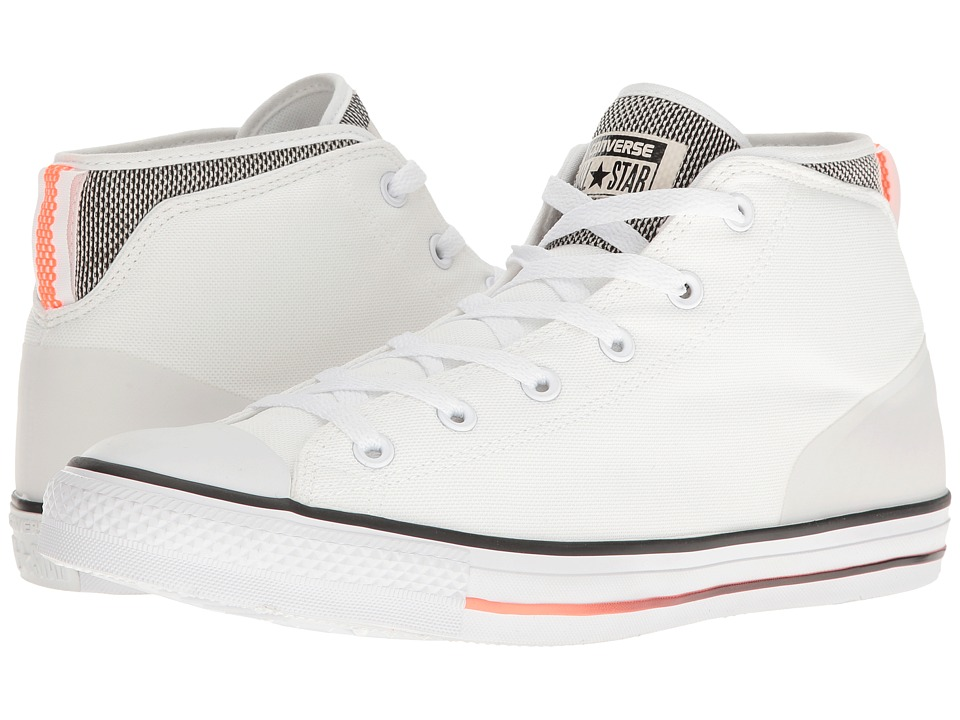 Converse Chuck Taylor(r) All Star(r) Syde Street Summer Mid (White/Black/Hyper Orange) Men