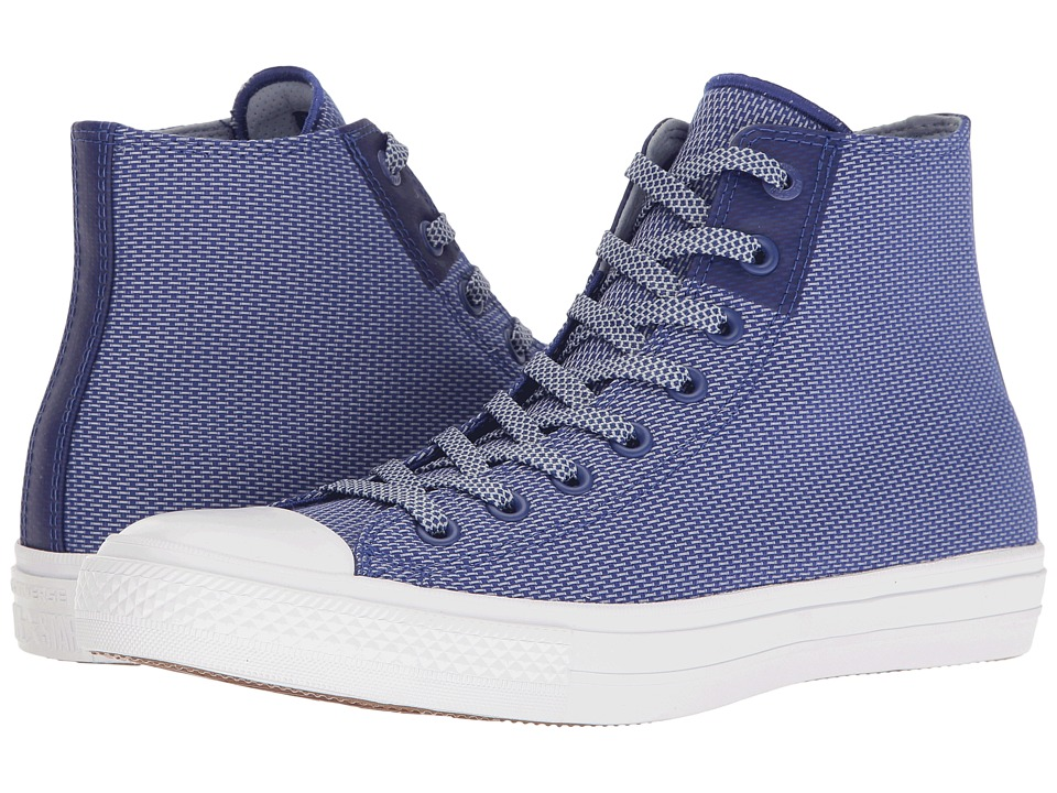 Converse - Chuck Taylor All Star Chuck II Woven Hi (True Indigo/Blue Granite/White) Classic Shoes