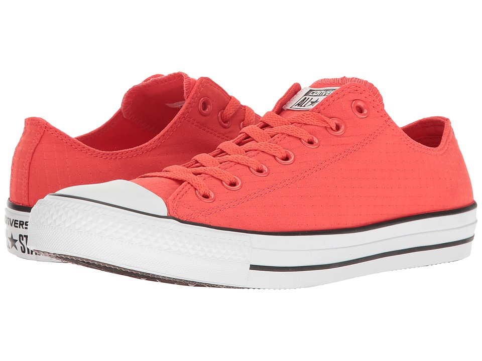 Converse Chuck Taylor All Star Ripstop Ox (Ultra Red/White/Black) Classic Shoes