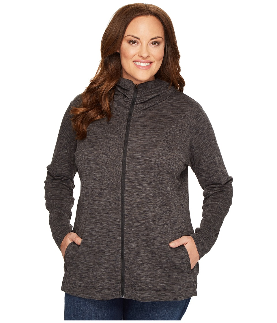 Columbia Plus Size OuterSpaced Full Zip Hoodie (Black Spacedye) Women
