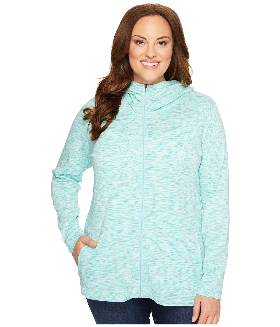 Columbia Plus Size OuterSpaced Full Zip Hoodie (Iceberg Spacedye) Women