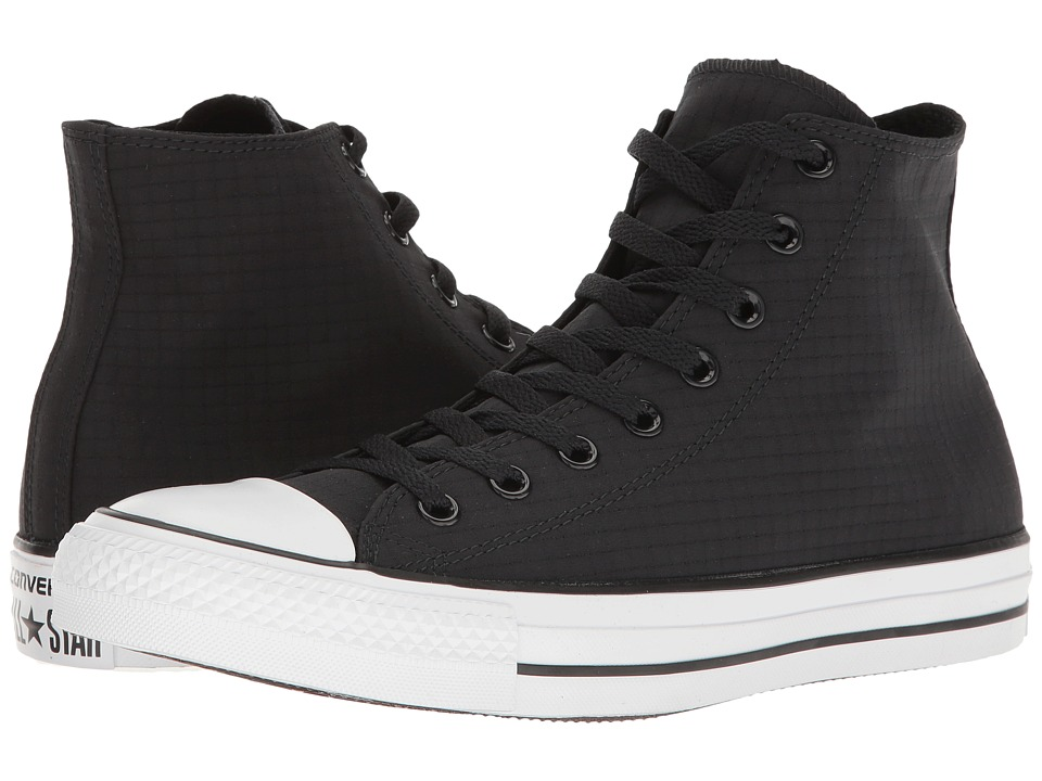 Converse - Chuck Taylor All Star Ripstop Hi (Black/White/Black) Classic Shoes