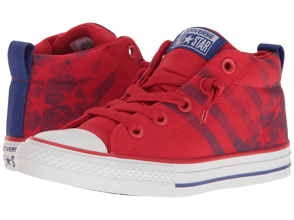 Converse Kids - Chuck Taylor All Star Street Mid (Little Kid/Big Kid) (Casino/True Indigo/White) Boy's Shoes