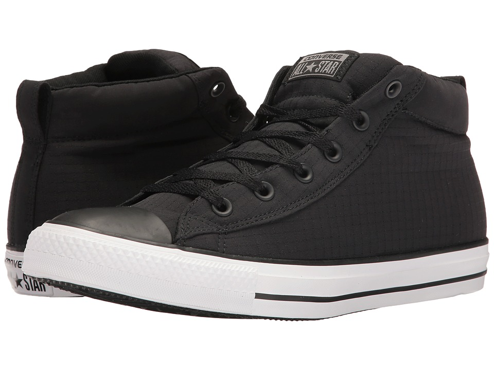 Converse Chuck Taylor(r) All Star(r) Street Ripstop Mid (Black/White/Black) Men