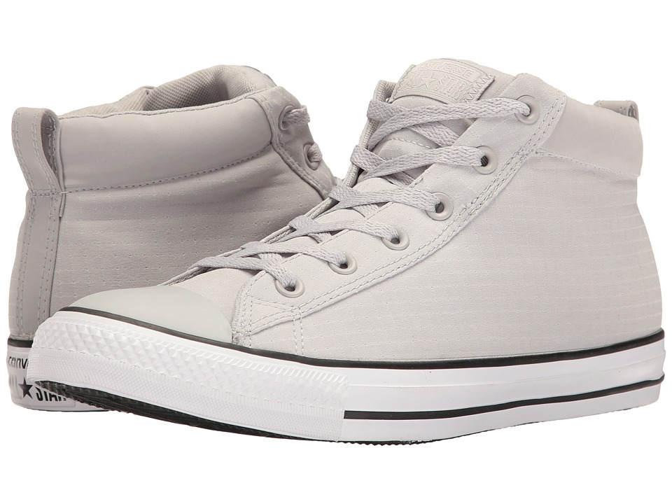 Converse - Chuck Taylor(r) All Star(r) Street Ripstop Mid (Ash Grey/White/Black) Men's Classic Shoes