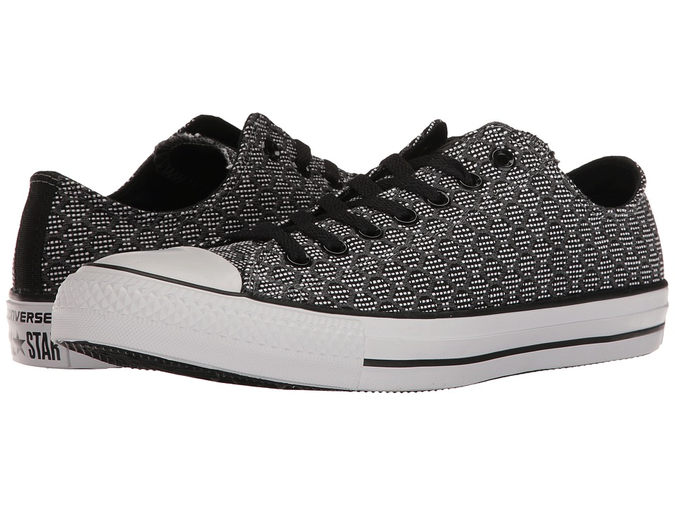 Converse Chuck Taylor All Star Hex Jacquard Ox (Black/Thunder/White) Classic Shoes
