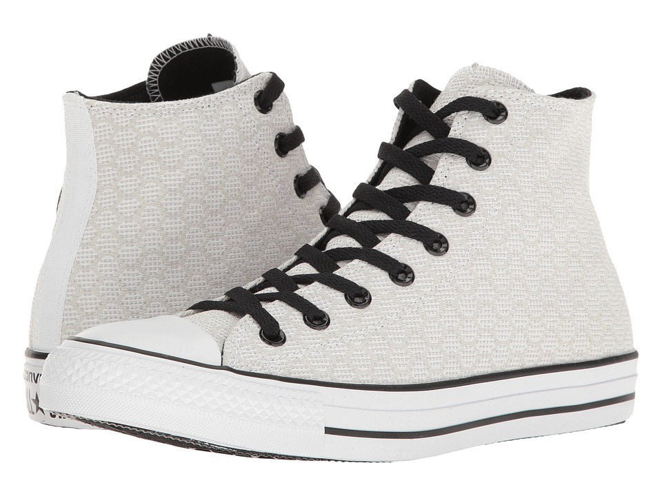 Converse - Chuck Taylor All Star Hex Jacquard Hi (White/Dolphin/Black) Classic Shoes