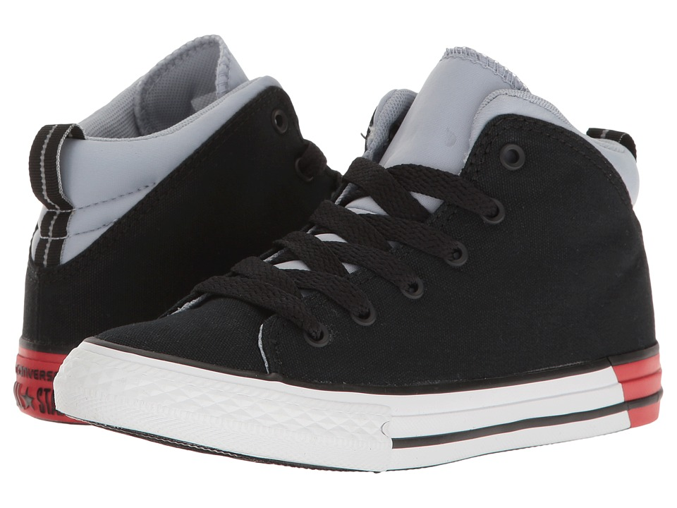 Converse Kids - Chuck Taylor All Star Official Mid (Little Kid/Big Kid) (Black/Blue Granite/White 1) Boys Shoes
