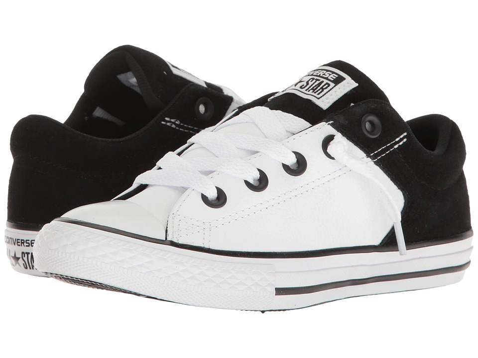 Converse Kids - Chuck Taylor All Star High Street Slip (Little Kid/Big Kid) (White/Black/White) Boy's Shoes