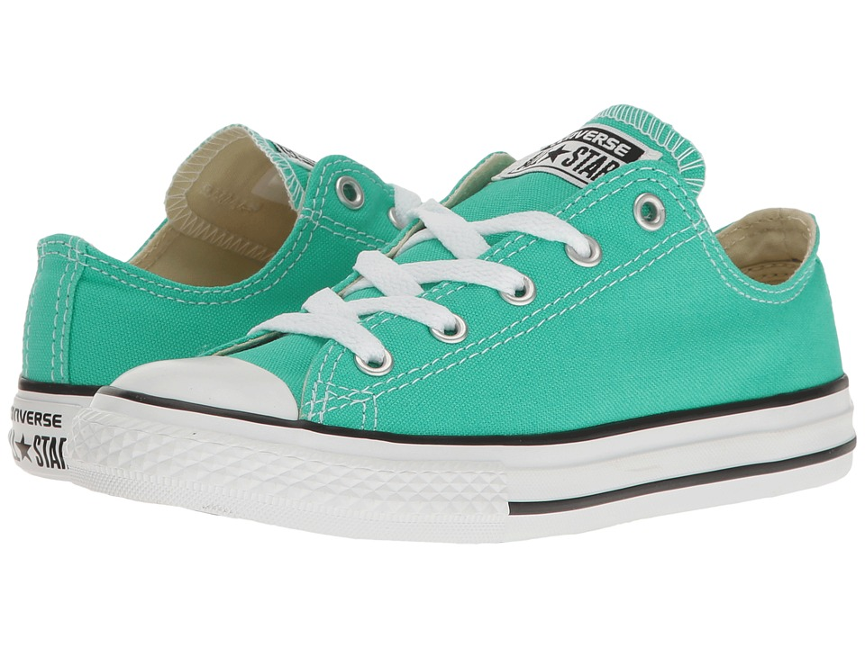 Converse Kids - Chuck Taylor All Star Ox (Little Kid) (Menta) Girl's Shoes