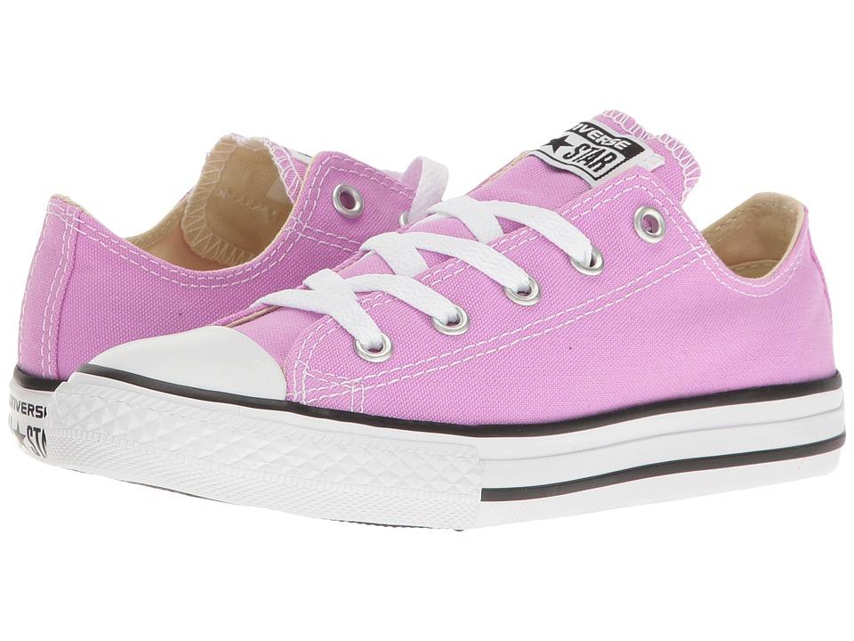 Converse Kids - Chuck Taylor All Star Ox (Little Kid) (Fuchsia Glow) Girl's Shoes