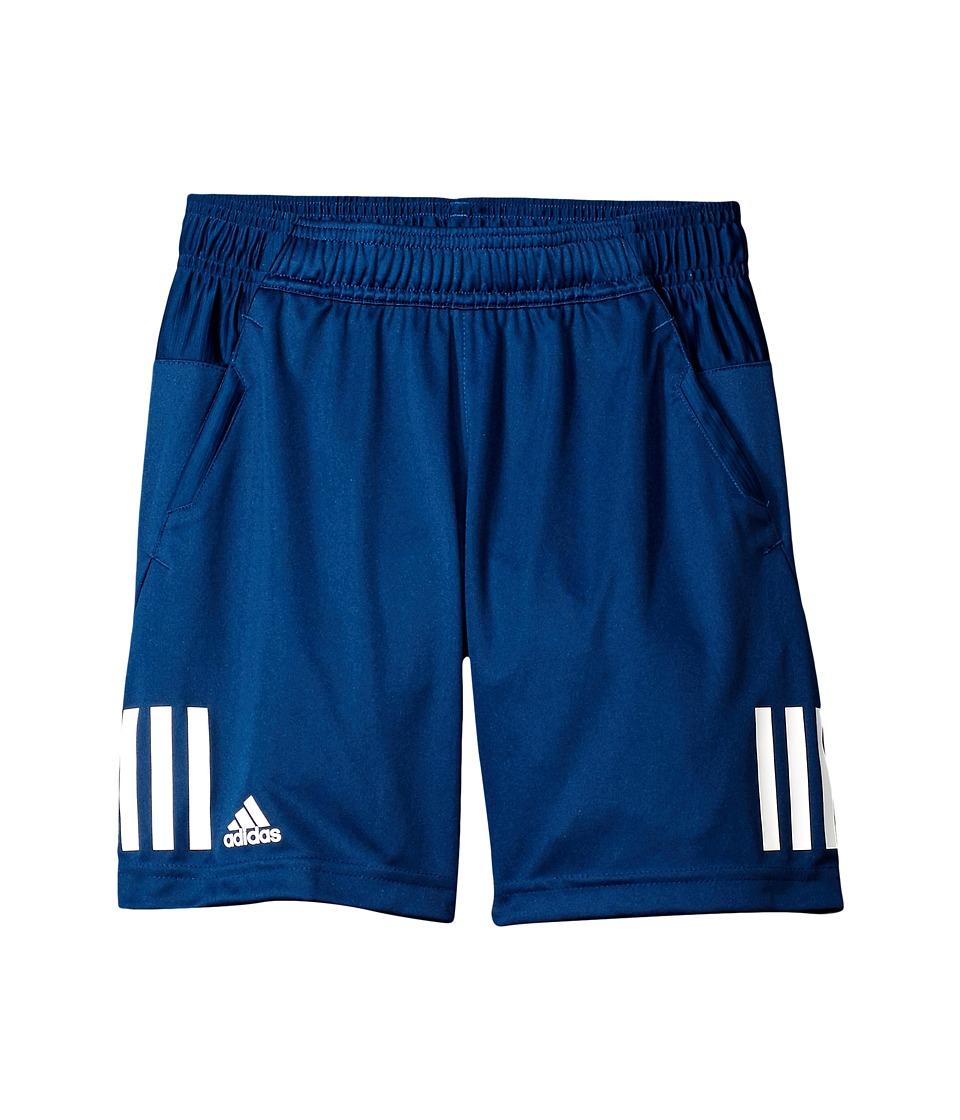 adidas Kids - Club Shorts (Little Kids/Big Kids) (Mystery Blue/White) Boy's Shorts