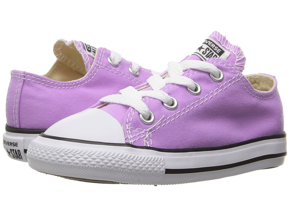 Converse Kids - Chuck Taylor All Star Ox (Infant/Toddler) (Fuchsia Glow) Girl's Shoes