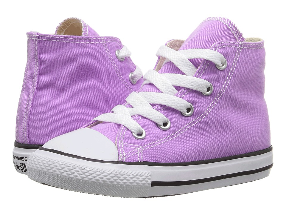 Converse Kids - Chuck Taylor All Star Hi (Infant/Toddler) (Fuchsia Glow) Girl's Shoes