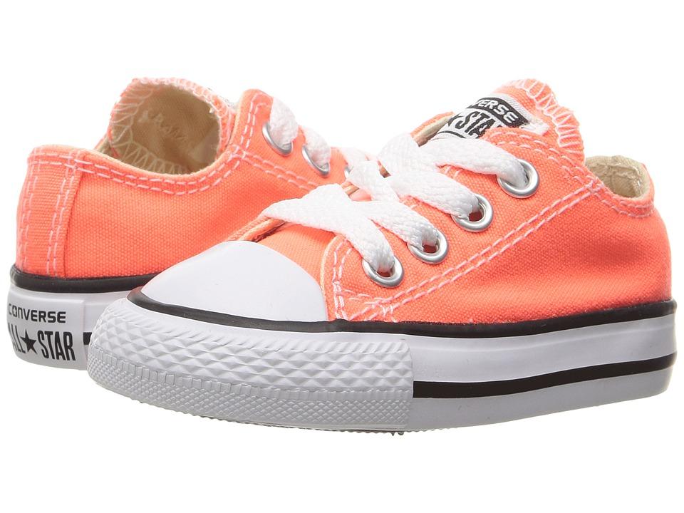 Converse Kids Chuck Taylor All Star Ox (Infant/Toddler) (Hyper Orange) Girl