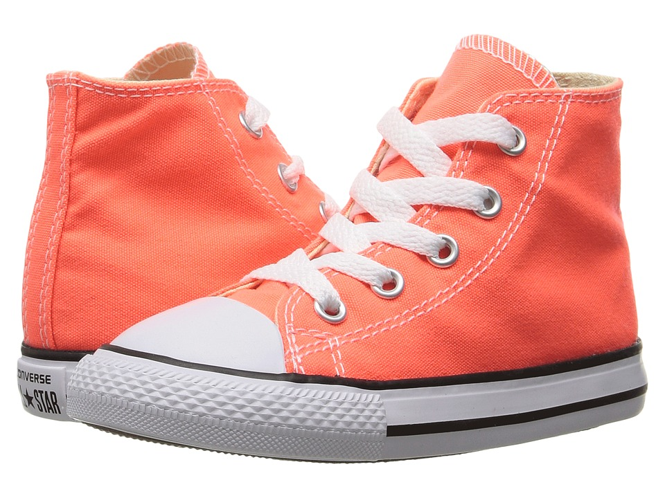 Converse Kids Chuck Taylor All Star Hi (Infant/Toddler) (Hyper Orange) Girl