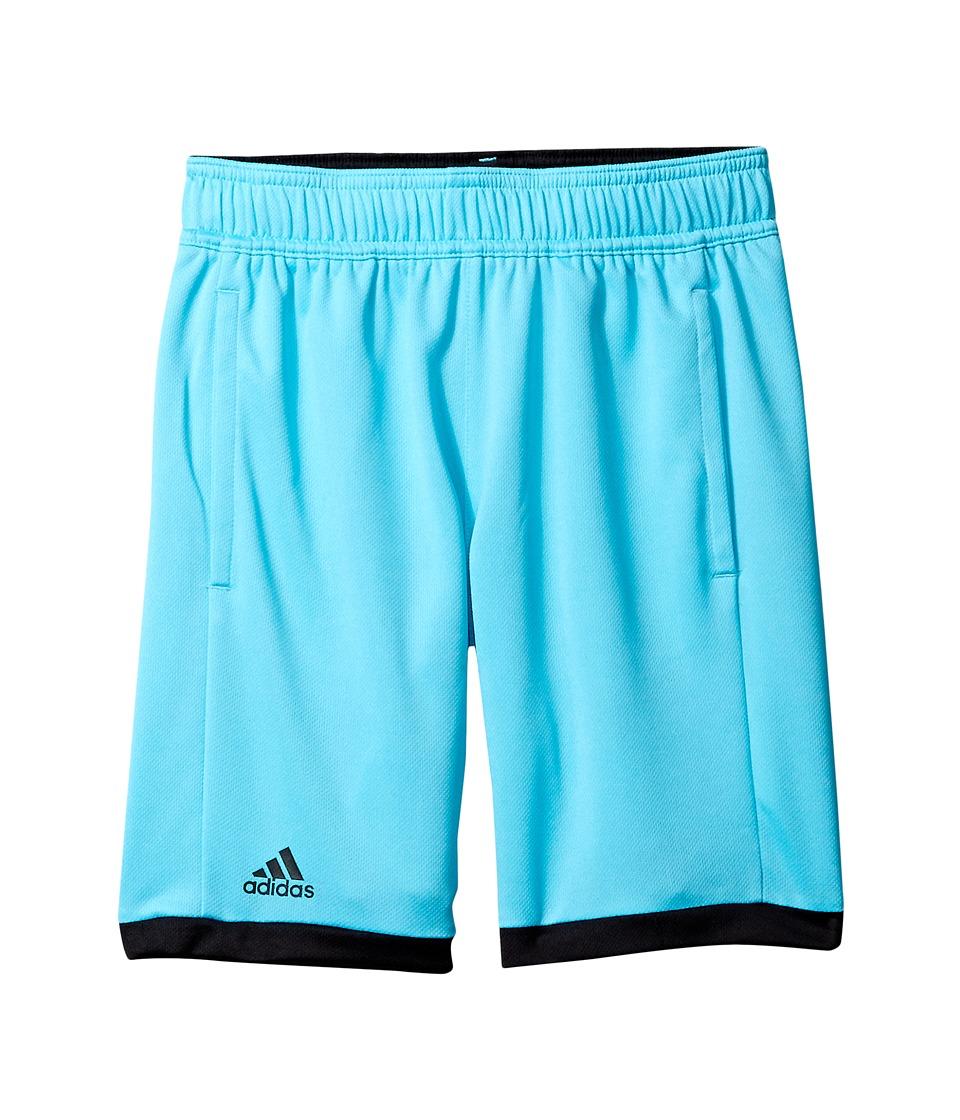 adidas Kids - Court Shorts (Little Kids/Big Kids) (Samba Blue/Black) Boy's Shorts