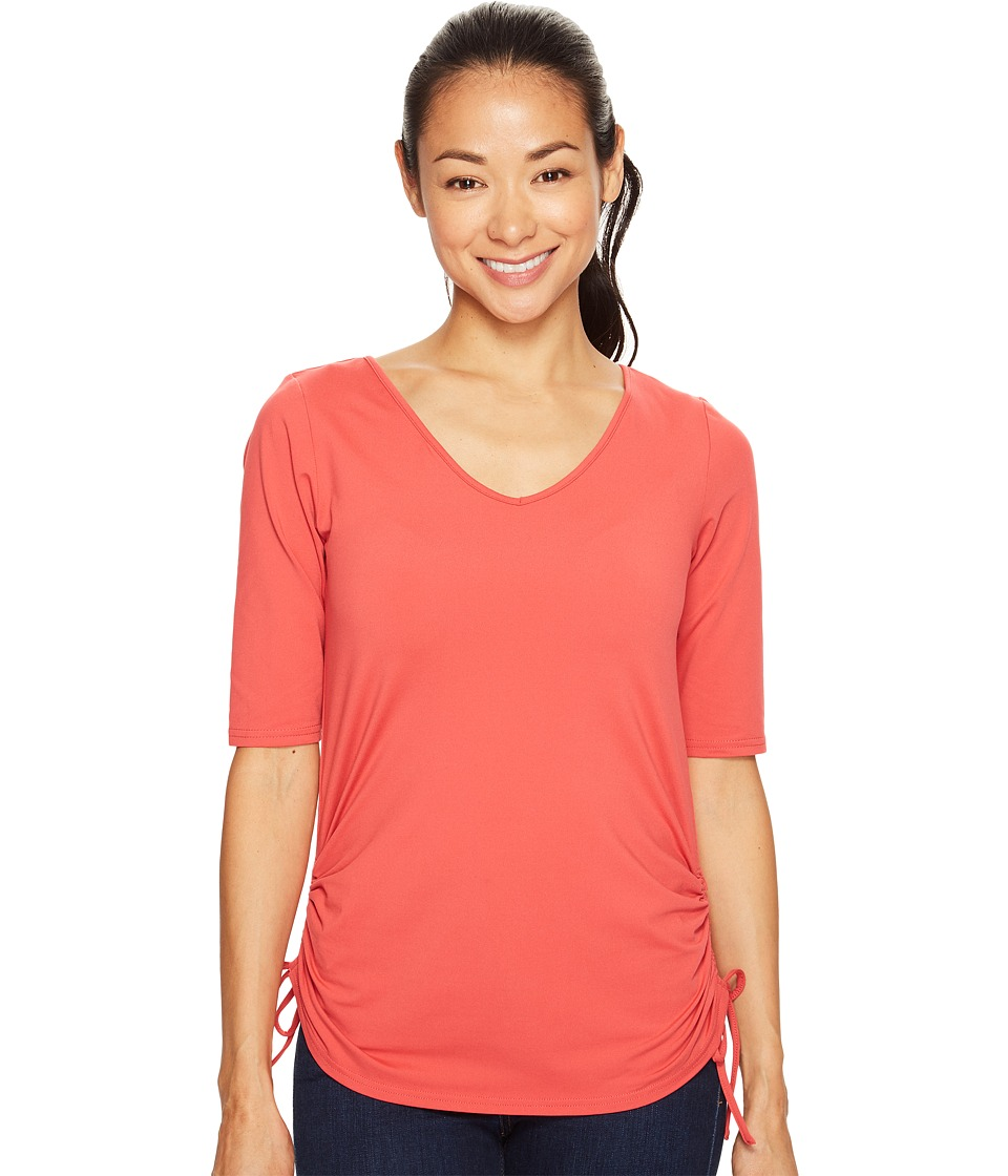 Columbia - Anytime Casual II Tee (Sunset Red) Women's Short Sleeve Pullover