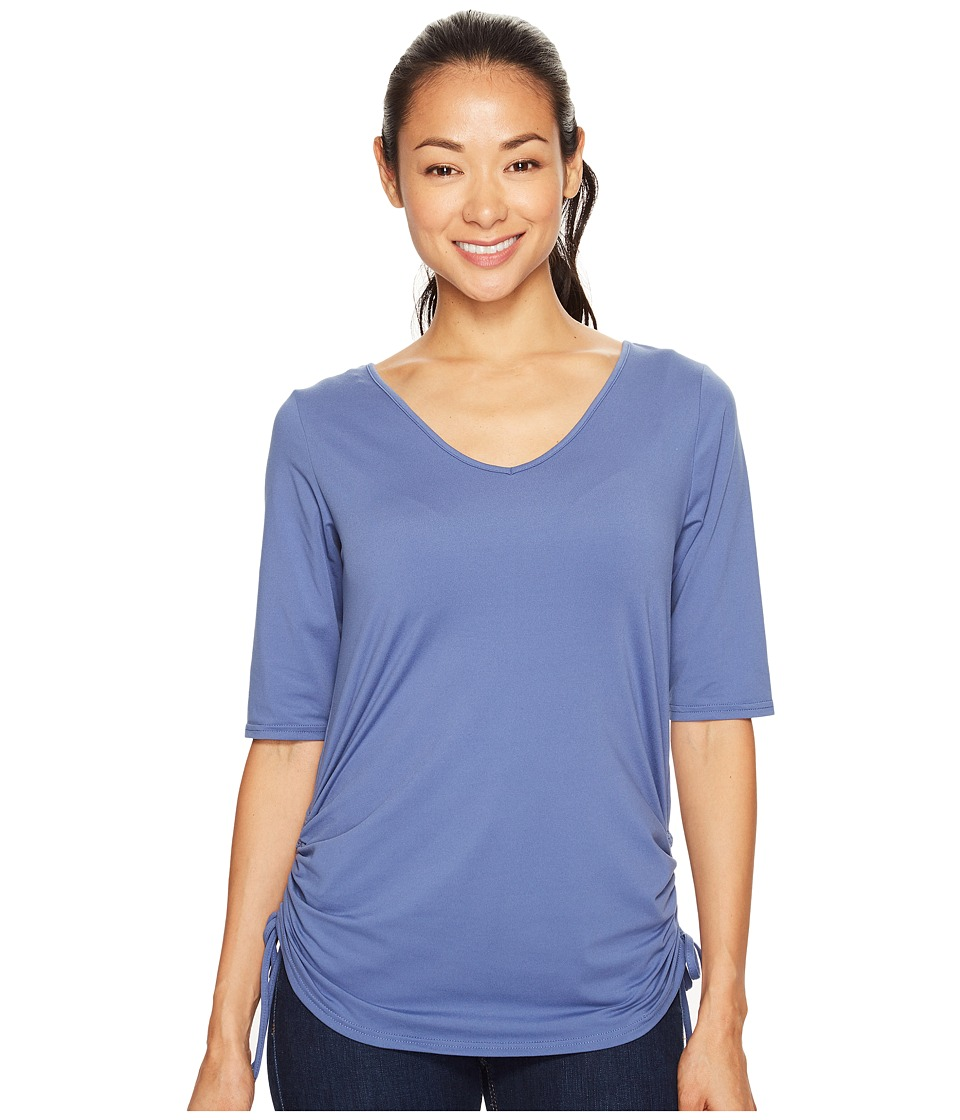 Columbia - Anytime Casual II Tee (Bluebell) Women's Short Sleeve Pullover