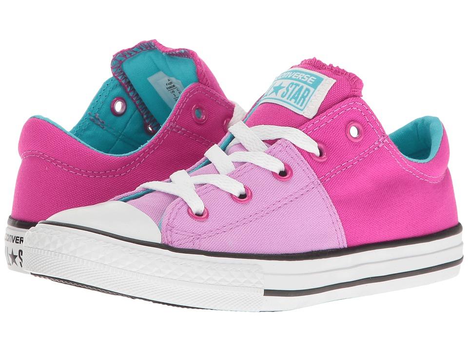 Converse Kids Chuck Taylor All Star Madison Ox (Little Kid/Big Kid) (Fuchsia Glow/Magenta Glow/White) Girl