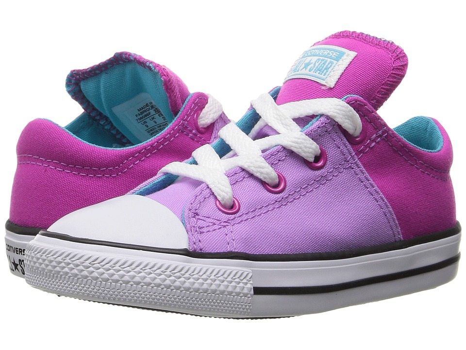 Converse Kids - Chuck Taylor All Star Madison Ox (Infant/Toddler) (Fuchsia Glow/Magenta Glow/White) Girl's Shoes