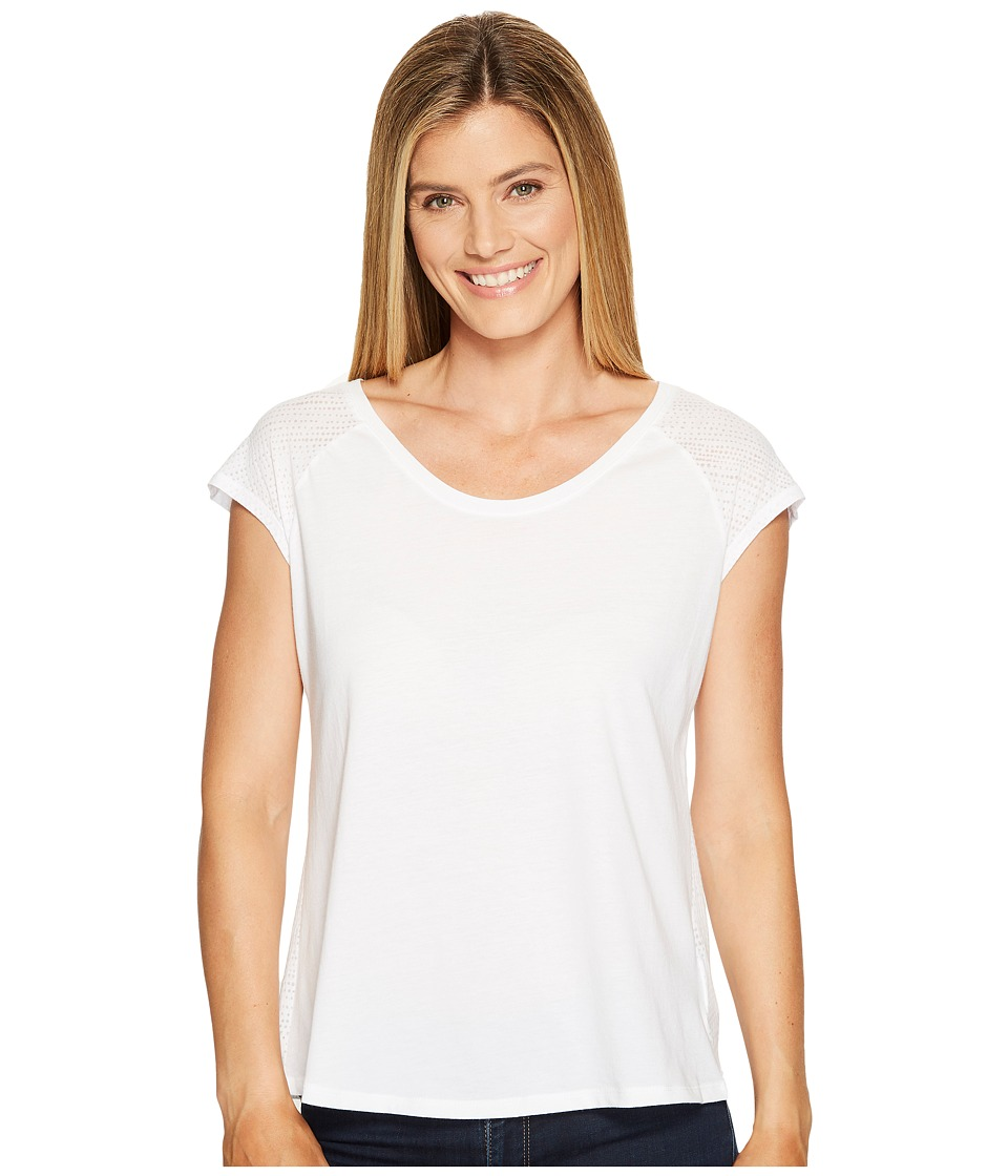 Columbia - See Through You Burnout II Tee (White Dotty Dye Burnout) Women's Short Sleeve Pullover