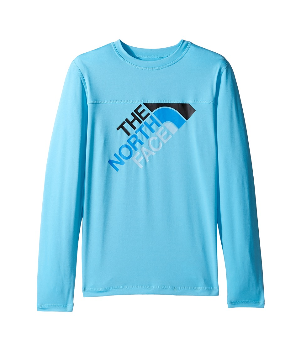 The North Face Kids - Long Sleeve Hike/Water Tee (Little Kids/Big Kids) (Cascade Blue (Prior Season)) Boy's T Shirt