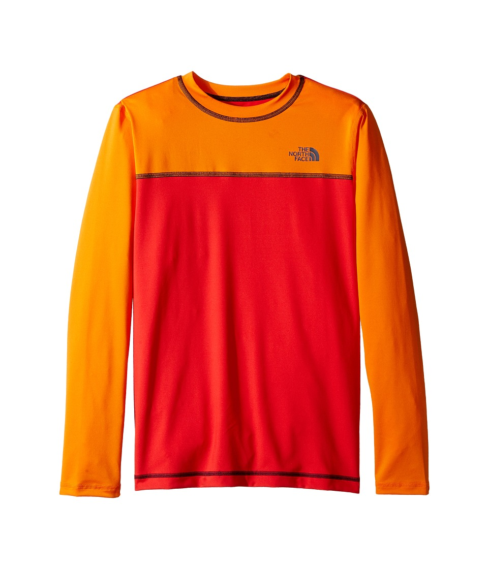The North Face Kids - Long Sleeve Hike/Water Tee (Little Kids/Big Kids) (High Risk Red (Prior Season)) Boy's T Shirt