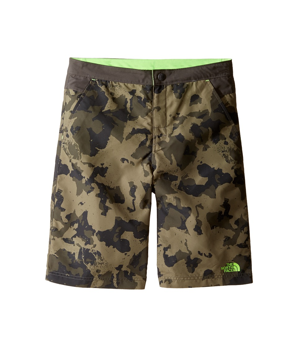 The North Face Kids - Hike/Water Shorts (Little Kids/Big Kids) (Burnt Olive Green Animal Camo Hike Print (Prior Season)) Boy's Shorts