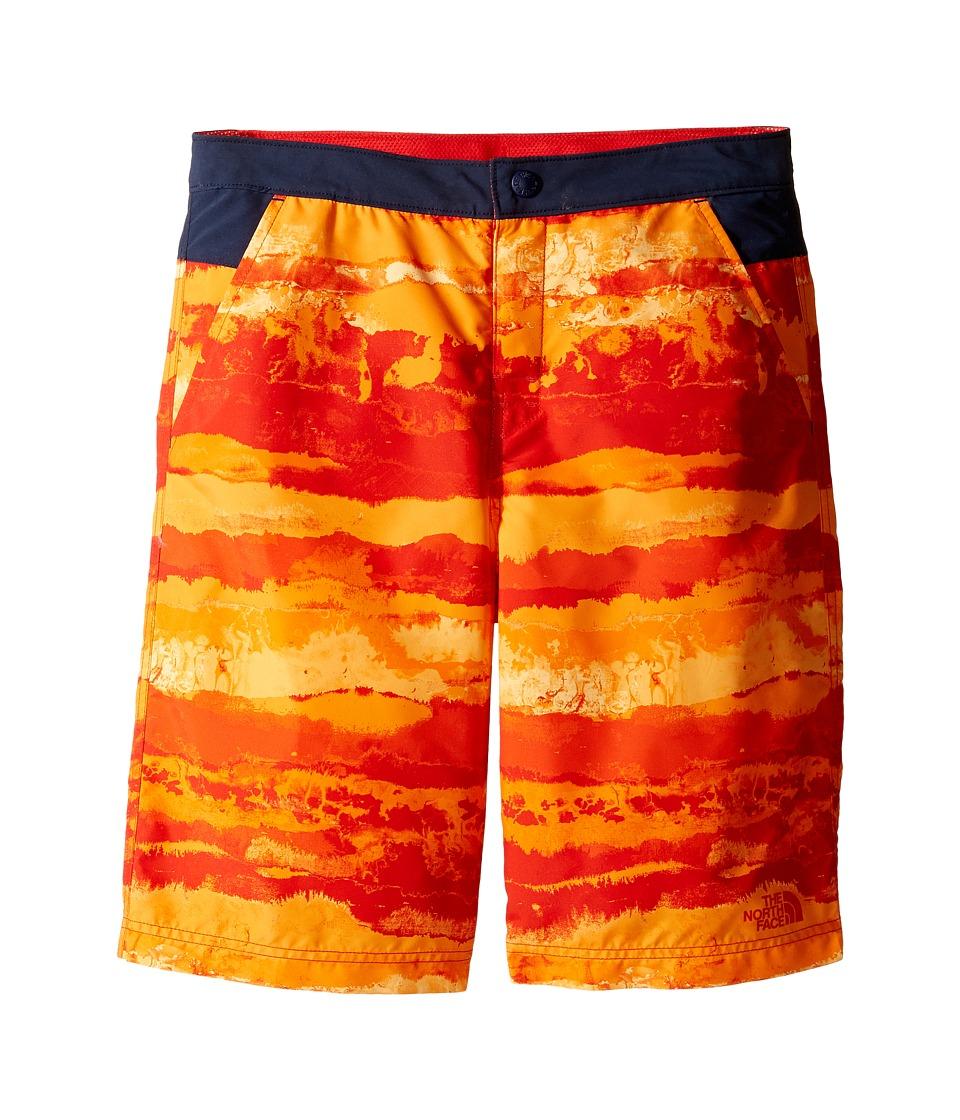 The North Face Kids - Hike/Water Shorts (Little Kids/Big Kids) (High Risk Red Horizon Hike Print (Prior Season)) Boy's Shorts