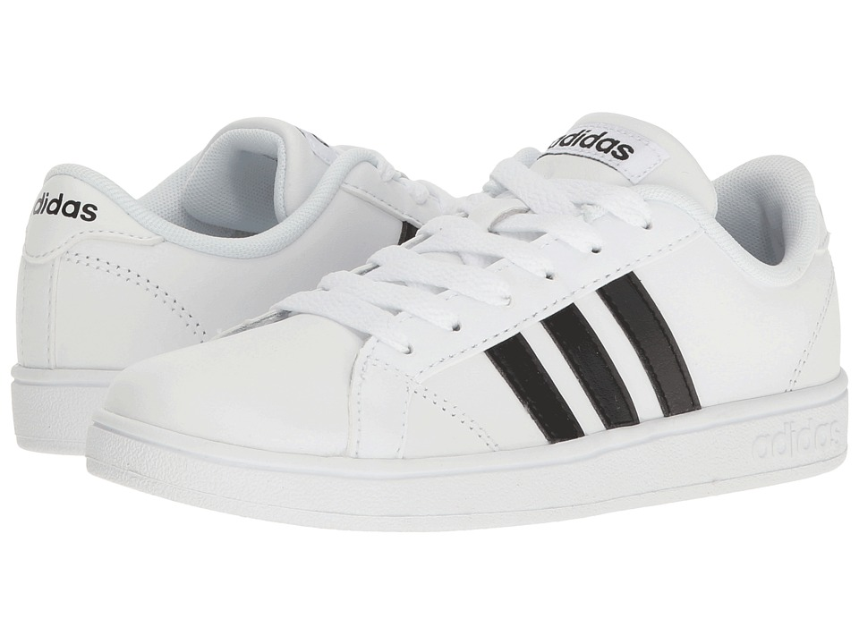 adidas Kids Baseline (Little Kid/Big Kid) (White/Black/White