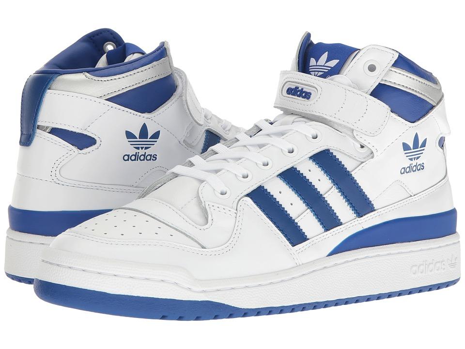 adidas Originals Forum Mid Refined (Footwear White/Collegiate Royal/Silver Metallic) Men