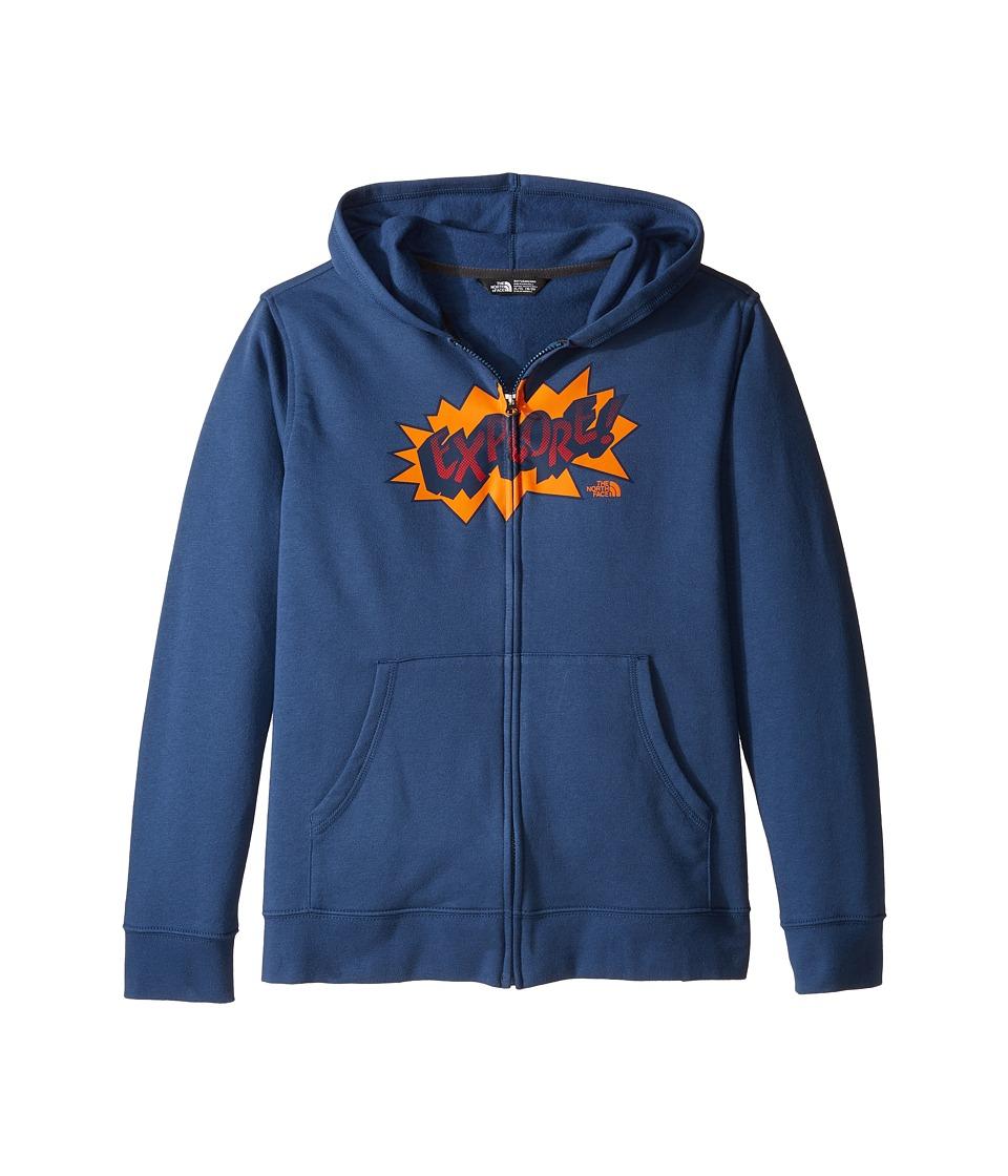 The North Face Kids - Logowear Full Zip Hoodie (Little Kids/Big Kids) (Shady Blue (Prior Season)) Boy's Sweatshirt