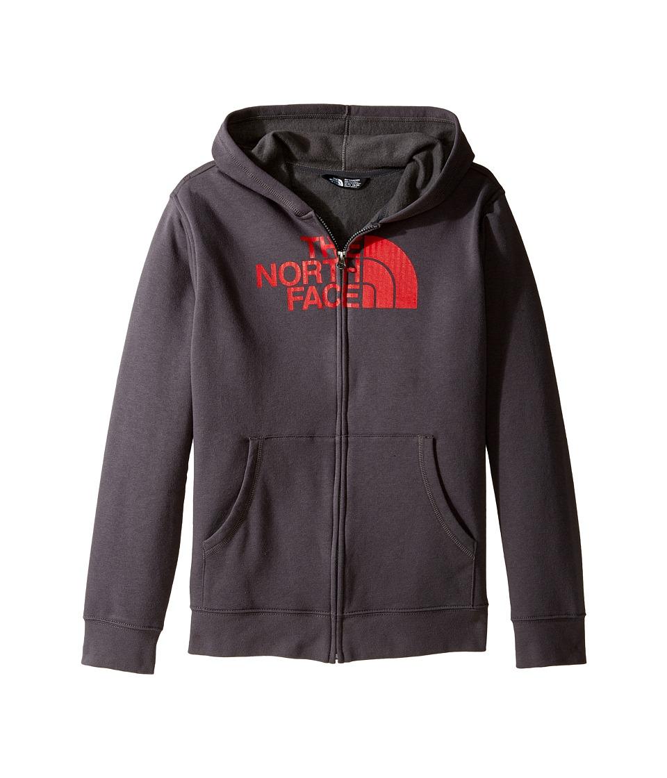 The North Face Kids - Logowear Full Zip Hoodie (Little Kids/Big Kids) (Graphite Grey (Prior Season)) Boy's Sweatshirt