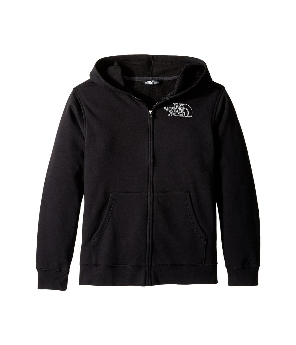The North Face Kids - Logowear Full Zip Hoodie (Little Kids/Big Kids) (TNF Black (Prior Season)) Boy's Sweatshirt
