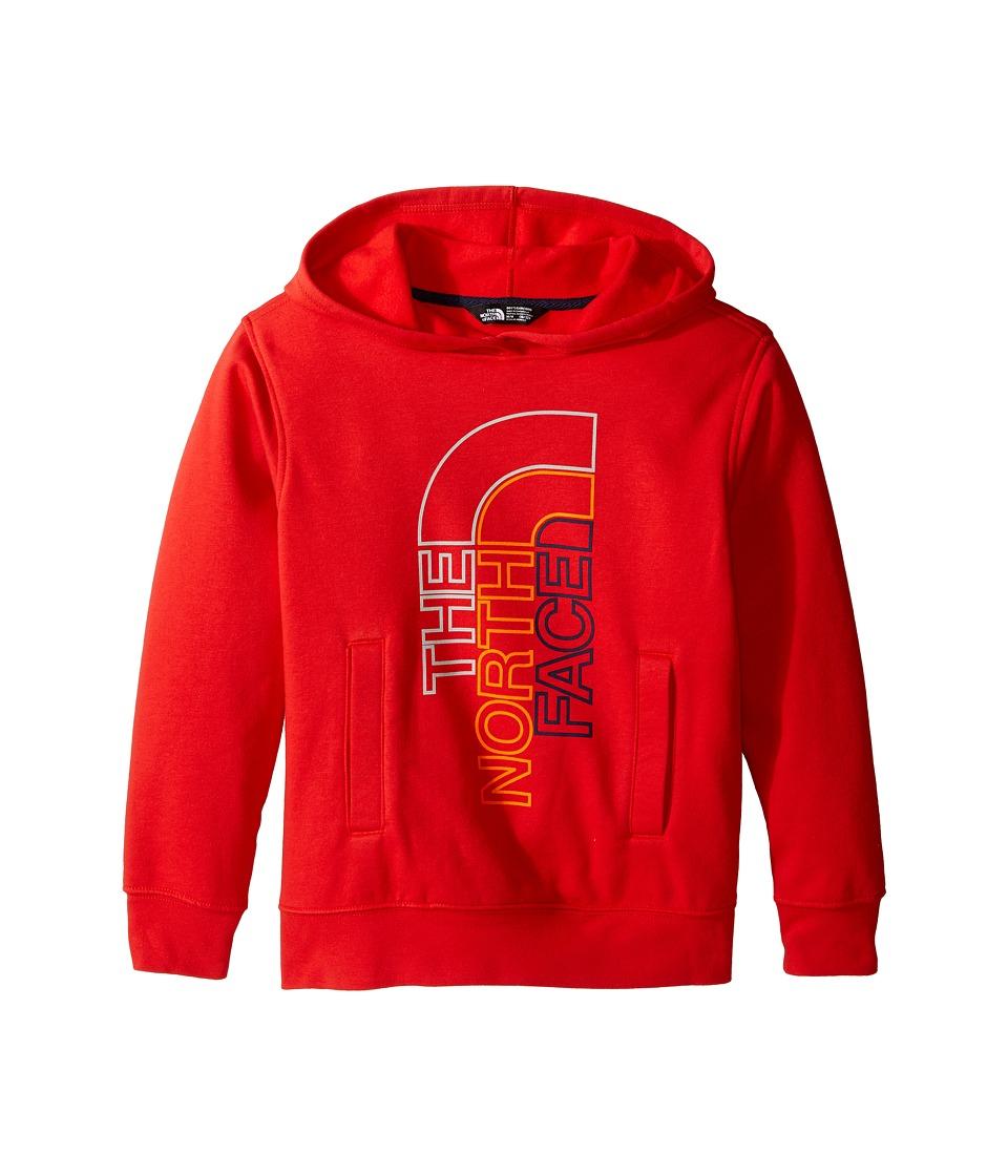 The North Face Kids - Logowear Pullover Hoodie (Little Kids/Big Kids) (High Risk Red (Prior Season)) Boy's Sweatshirt