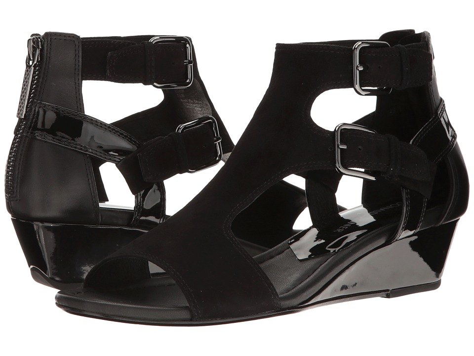Donald J Pliner - Eden (Black Kidsuede) Women's Wedge Shoes
