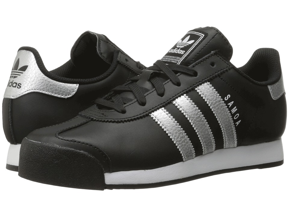 adidas Originals - Samoa Leather (Core Black/Silver Metallic/Footwear White) Women's Soccer Shoes