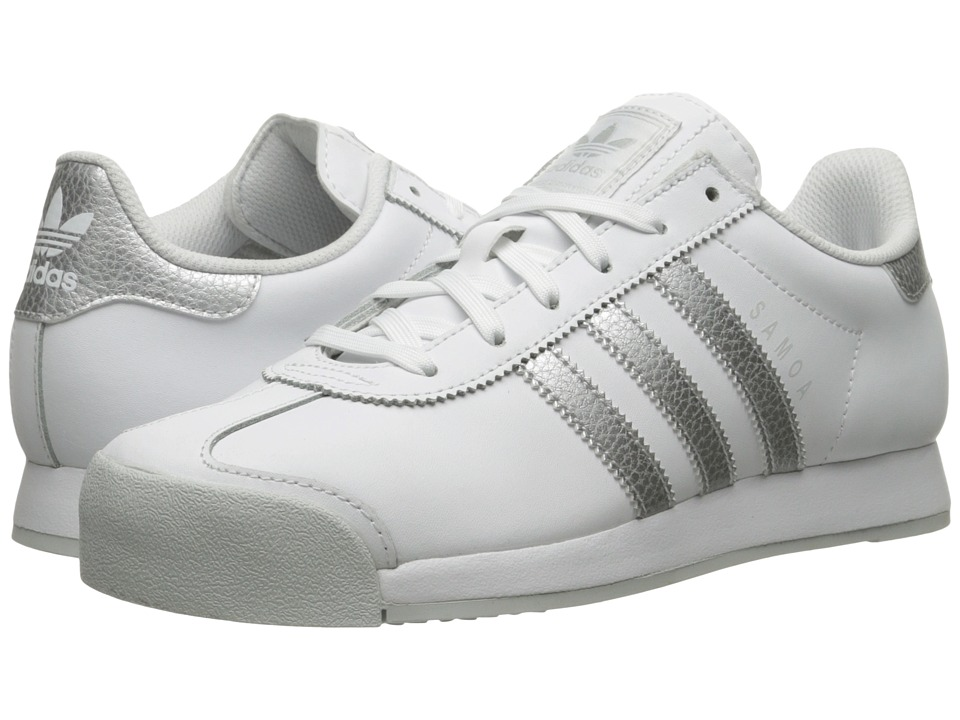 adidas Originals - Samoa Leather (Footwear White/Silver Metallic/Clear Grey) Women's Soccer Shoes