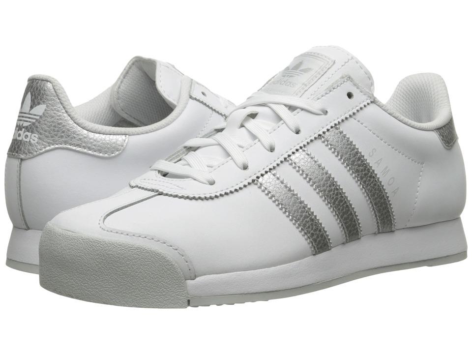 adidas Originals - Samoa Leather (Footwear White/Silver Metallic/Clear Grey) Women's Soccer Shoes