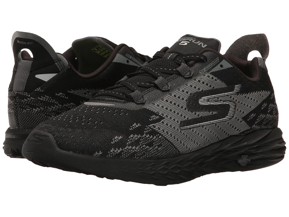 SKECHERS - Go Run 5 (Black) Women's Running Shoes