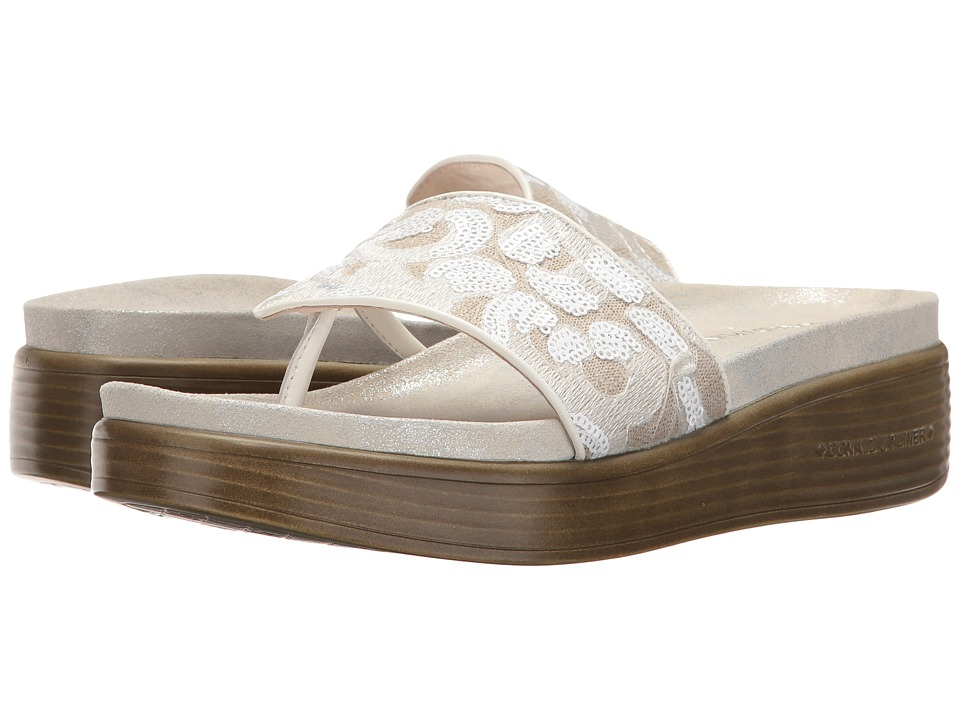 Donald J Pliner - Fifi (White Rustic Brocade) Women's Wedge Shoes