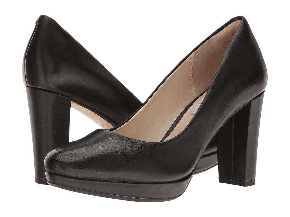Clarks - Kendra Sienna (Black Leather) High Heels