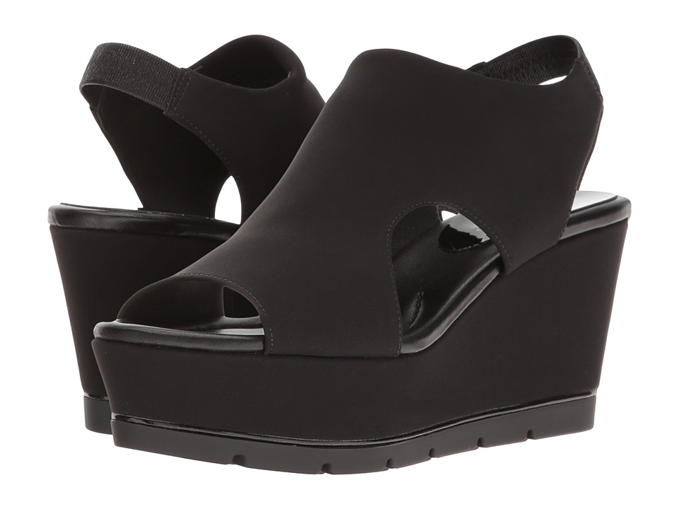 Donald J Pliner - Fonda (Black Crepe) Women's Wedge Shoes