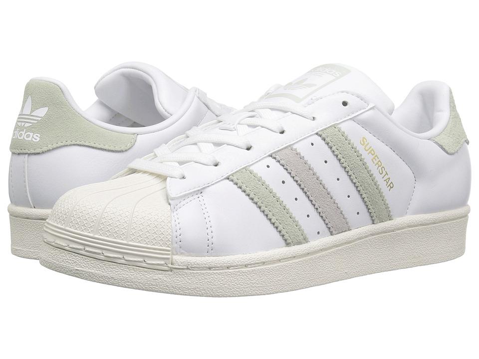 adidas Originals Superstar (Footwear White/Linen Green/Ice Purple) Women